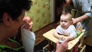 Первая стрижка ребенка