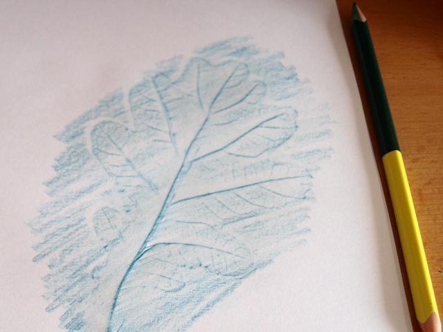 штрихуем листочек