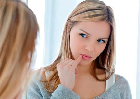 лечение простуды на губе