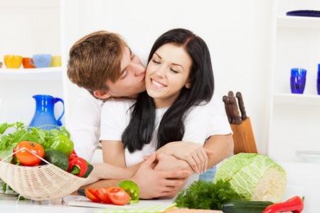 продукты в рационе женщины